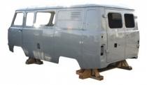 КУЗОВ УАЗ-3909 3-й комплектности под инжекторный двигатель до 2016 г.в. (7 мест + грузовой отсек, цельнометаллический) 390900500001495